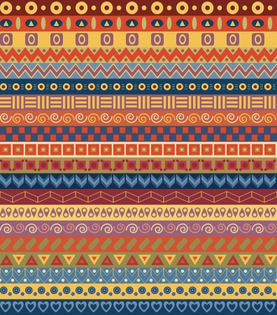 ethno: Tribal striped seamless pattern  Geometric multicolor background  Vintage soft colors  Swatches of seamless pattern included in the file  Illustration