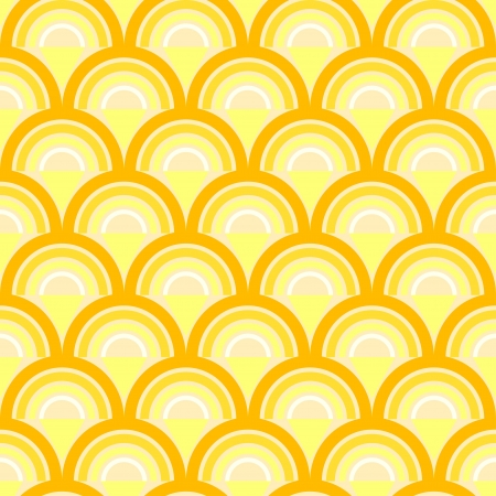 Seamless geometric pattern with waves in retro style  Can be used to fabric design, wallpaper, decorative paper, scrapbook albums, web design, etc  Swatches of seamless pattern included in the file