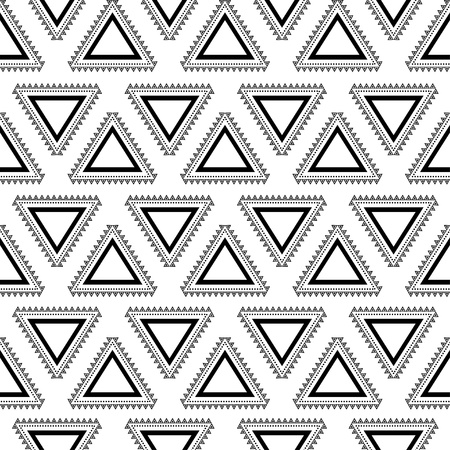 Tribal seamless pattern  Aztec geometric black-white background  Swatches of seamless pattern included in the file  Ilustracja