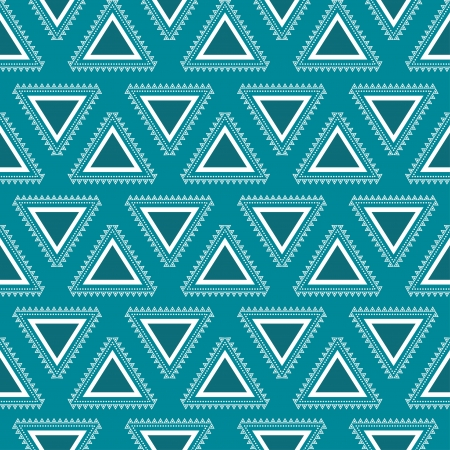 Tribal seamless pattern  Geometric aztec background  Vintage colors  Swatches of seamless pattern included in the file  Vector