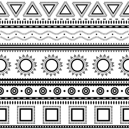 Aztec seamless pattern  Can be used in fabric design for making of clothes, accessories; decorative paper, wrapping, envelope; web design, etc  Swatches of seamless pattern included in the file Фото со стока - 20025647