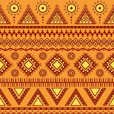 Aztec seamless pattern  Can be used in fabric design for making of clothes, accessories; decorative paper, wrapping, envelope; web design, etc  Swatches of seamless pattern included in the file Zdjęcie Seryjne - 20025644