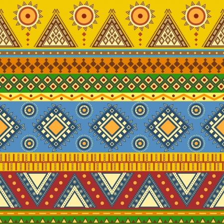 этнический: Ацтек бесшовных шаблон может быть использован в конструкции ткани для изготовления одежды, аксессуаров, декоративная бумага, упаковка, конверт, веб-дизайн и т.д. Образцы бесшовные модели, включенный в файл Иллюстрация