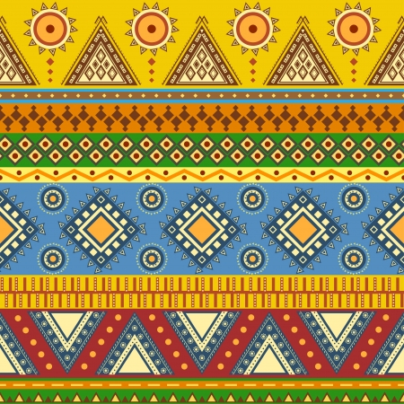 fashion design: Aztec seamless pattern  Can be used in fabric design for making of clothes, accessories; decorative paper, wrapping, envelope; web design, etc  Swatches of seamless pattern included in the file