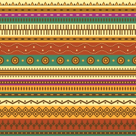 mexican culture: Aztec seamless pattern  Can be used in fabric design for making of clothes, accessories; decorative paper, wrapping, envelope; web design, etc  Swatches of seamless pattern included in the file