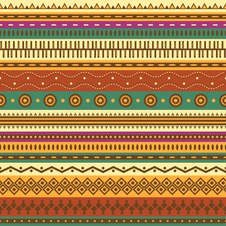 mexican art: Aztec Seamless pattern pu? essere utilizzato nel design tessuto per la fabbricazione di abiti, accessori, carta decorativa, da imballaggio, buste, web design, ecc Campioni di seamless inclusi nel file Vettoriali