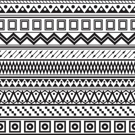 Tribal gestreiften nahtlose Muster Geometrische schwarz-wei?en Hintergrund Farbfelder der nahtlose Muster in der Datei enthalten
