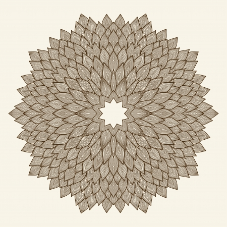 Mandala  Beautiful hand drawn flower  Ethnic lace round ornamental pattern  Can be used to fabric design, decorative paper, web design, embroidery, tattoo, etc   Vector