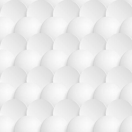 Abstract 3d seamless pattern with circles. Geometric modern texture.