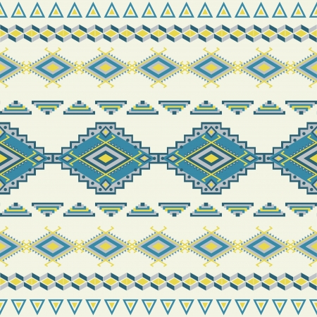Aztec seamless pattern. Vintage soft colors. Can be used to web design, fabric design, printing on T-shirts, bags, decorative paper, etc. Иллюстрация