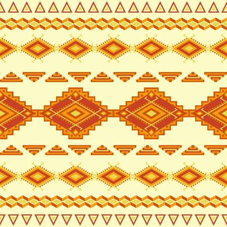 native american art: Aztec seamless pattern. Vintage soft colors. Can be used to web design, fabric design, printing on T-shirts, bags, decorative paper, etc. Illustration