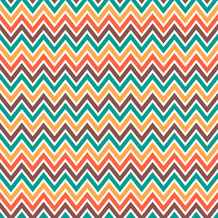 Seamless chevron pattern in retro style, soft colors. Geometric background. Can be used to fabric design, wallpaper, decorative paper, scrapbook albums, web design, etc. Ilustracja