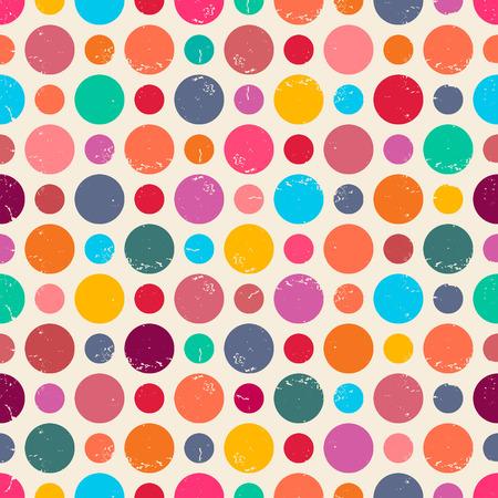 Nahtlose Muster mit Grunge-Punkten. Kann auf Stoffdesign, Tapeten, Dekorpapier, Web-Design, etc. verwendet werden Standard-Bild - 27173202