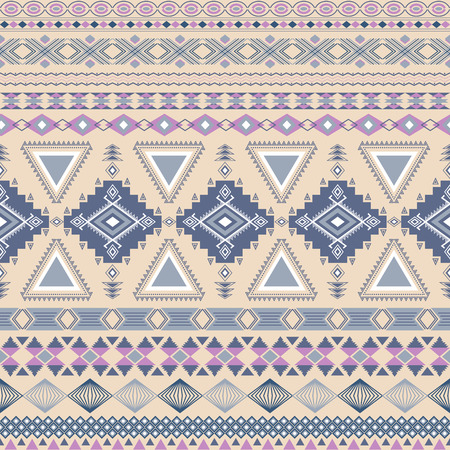 Tribal striped seamless pattern. Geometric aztec background. Can be used in fabric design for making of clothes, accessories; creating decorative paper, wrapping, envelope; in web design, etc.