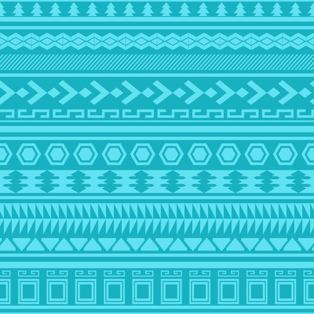 Tribal striped seamless pattern. Geometric aztec background. Can be used in fabric design for making of clothes, accessories; creating decorative paper, wrapping, envelope; in web design, etc. Vector