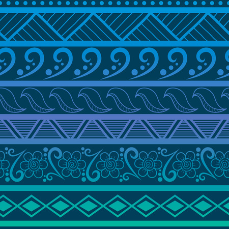 Tribal striped seamless pattern. Hand drawn aztec background. Soft colors. Can be used in fabric design for making of clothes, accessories; creating decorative paper, wrapping, envelope; in web design, etc. Vector