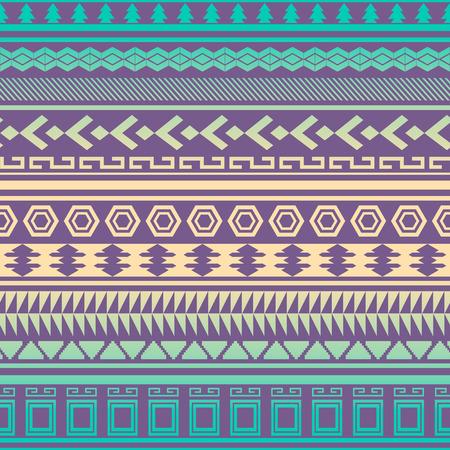 Tribal gestreiften nahtlose Muster. Geometrische Aztec Hintergrund. Kann in Stoff-Design für die Herstellung von Kleidung, Zubehör verwendet werden; Erstellen von Dekorpapier, Verpackung, Hülle; in Web-Design, etc. Illustration