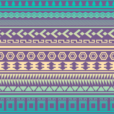 Tribal striped seamless pattern. Geometric aztec background. Can be used in fabric design for making of clothes, accessories; creating decorative paper, wrapping, envelope; in web design, etc. Banco de Imagens - 27173261
