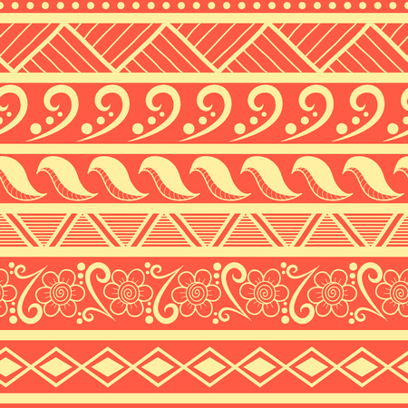 tribes: Tribal striped seamless pattern. Hand drawn aztec background. Soft colors. Can be used in fabric design for making of clothes, accessories; creating decorative paper, wrapping, envelope; in web design, etc.