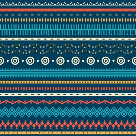 Tribal gestreiften nahtlose Muster. Geometrische Aztec Hintergrund. Kann in Stoff-Design für die Herstellung von Kleidung, Zubehör verwendet werden; Erstellen von Dekorpapier, Verpackung, Hülle; in Web-Design, etc. Standard-Bild - 27173266