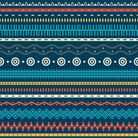 Tribal striped seamless pattern. Geometric aztec background. Can be used in fabric design for making of clothes, accessories; creating decorative paper, wrapping, envelope; in web design, etc. Zdjęcie Seryjne - 27173266