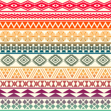 Tribal striped seamless pattern. Geometric background. Can be used in fabric design for making of clothes, accessories; creating decorative paper, wrapping, envelope; in web design, etc. Vector