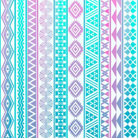 部族のストライプのシームレスなパターン。幾何学的な背景。服、アクセサリー; の作るため生地設計で使用されることができます。装飾的なペーパ  イラスト・ベクター素材