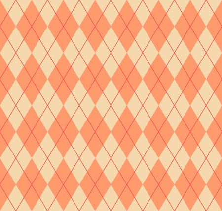 Seamless argyle pattern. Diamond shapes background. Vector illustration.