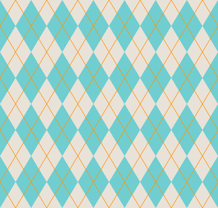 Seamless argyle pattern. Diamond shapes background. Vector illustration.
