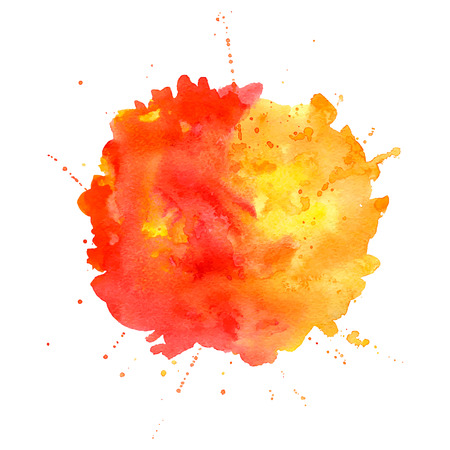 Watercolor splash. Abstract background with paper texture. Vector