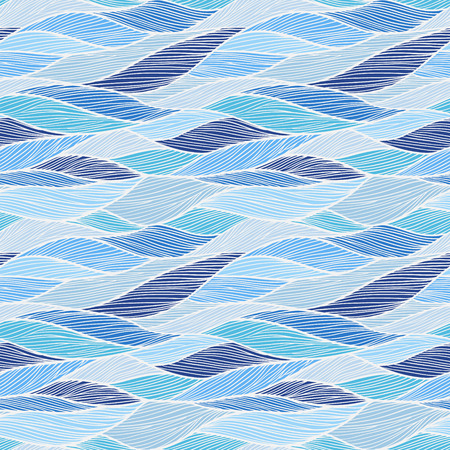 Seamless pattern. Hand drawn wavy background. Can be used to fabric design, wallpaper, decorative paper, web design, etc. Vector
