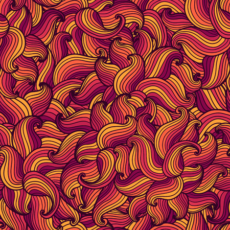 Seamless hand drawn wavy pattern.  Modern background. Can be used to fabric design, wallpaper, decorative paper, web design, etc. Vector
