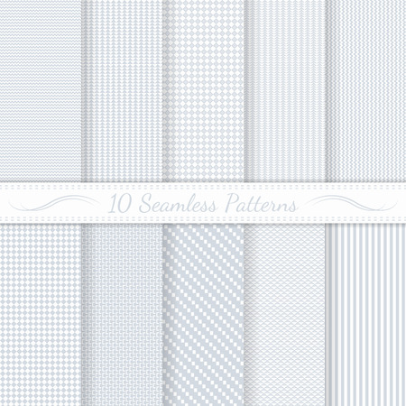 Set of ten subtle seamless patterns  Monochrome  Classic  Swatches of seamless patterns included in the file  Ilustracja