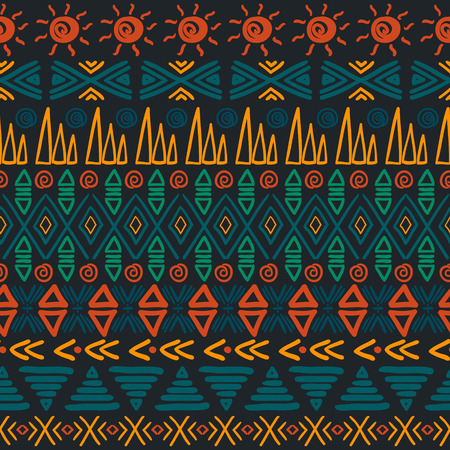 Aztec background. Tribal striped seamless pattern. Vector illustration. Vector