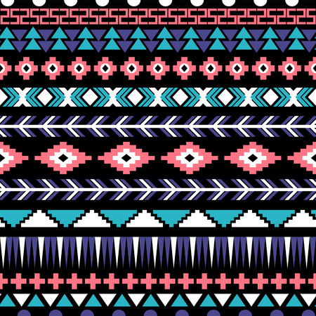 Ethnic seamless pattern. Aztec background. Vector illustration.