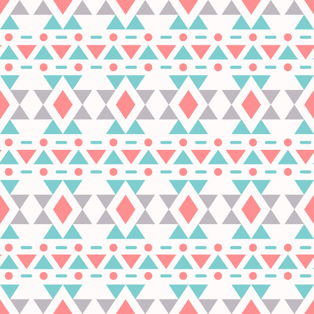 Ethnic seamless pattern. Aztec background. Vector illustration. Vector