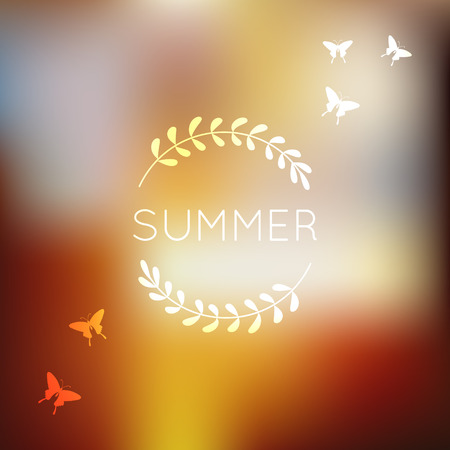 unfocused: Unfocused summer background. Blurry. Bokeh. Soft colors. Floral. Vacations and enjoy concept. Illustration