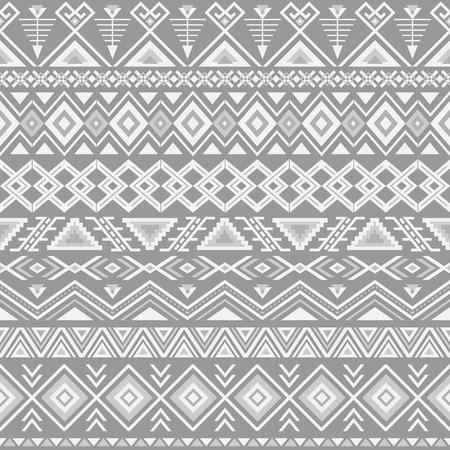 Ethnic seamless pattern. Aztec gray background. Tribal ethnic navajo print. Modern abstract wallpaper. Vector illustration.