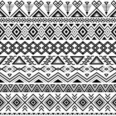 Ethnic seamless pattern. Aztec schwarz-weißen Hintergrund. Tribal ethnischen navajo Druck. Moderne abstrakte Hintergrundbild. Vektor-Illustration.