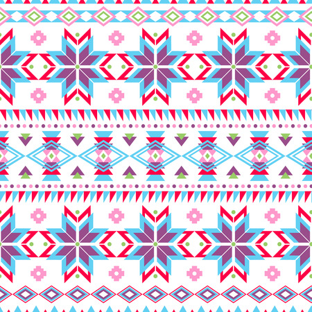 soft colors: Ethnic seamless pattern. Aztec colorful striped background. Tribal ethnic navajo print. Modern abstract wallpaper. Soft colors. Vector illustration. Illustration