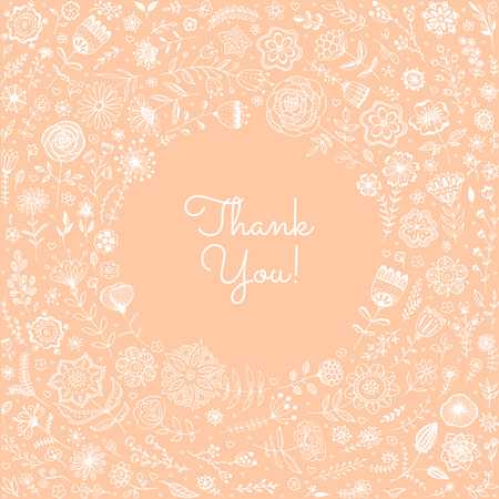 soft colors: Spring, summer floral background. Greeting card, invitation with doodle flowers. Soft colors. Vector illustration. Illustration