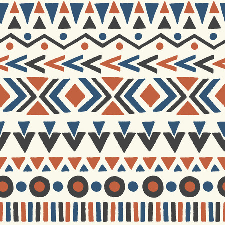 abstract wallpaper: Ethnic seamless pattern. Aztec geometric background. Hand drawn navajo fabric. Modern abstract wallpaper. Vector illustration.