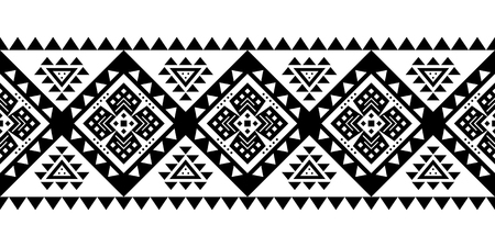 Aztec style vector ornament. Seamless pattern. Tribal geometric background. Can be use for linens design, accessories for interior decor in boho style, fashionable tribe cloth, rugs, case prints, etc