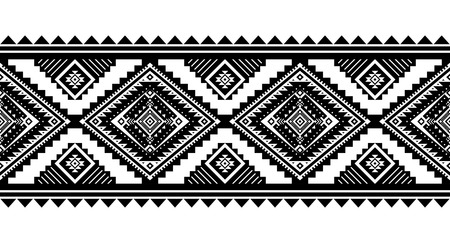 Aztec style vector ornament. Seamless pattern. Tribal geometric background. Can be use for linens design, accessories for interior decor in boho style, fashionable tribe cloth, rugs, case prints, etc Vetores