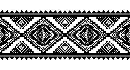 Ornement de vecteur de style aztèque. Modèle sans couture. Fond géométrique tribal. Peut être utilisé pour la conception de linge de maison, les accessoires de décoration d'intérieur de style bohème, les tissus de tribu à la mode, les tapis, les imprimés de cas, etc. Vecteurs