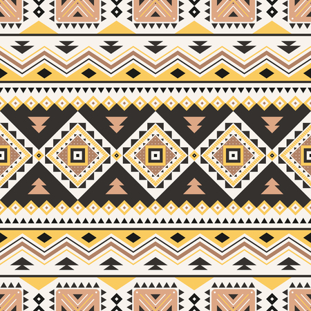 Tribal striped seamless pattern. Aztec geometric vector background. Can be used in textile design, web design for making of clothes, accessories, decorative paper, wrapping, envelope; backpacks, etc. Reklamní fotografie - 122124907