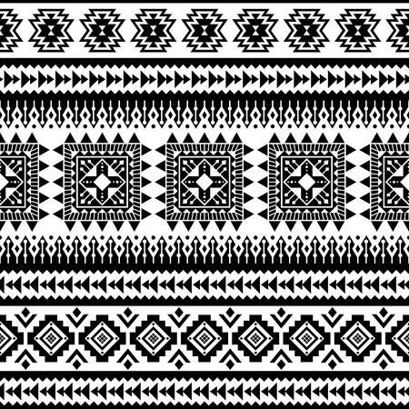 Aztec seamless pattern, vector. Native american motifs. Tribal geometric background. Can be used for textile design, yoga clothes and accessories, backpacks, bags, phone cases, etc. Vector Illustration
