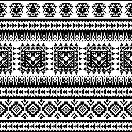 Modèle sans couture aztèque, vecteur. Motifs amérindiens. Fond géométrique tribal. Peut être utilisé pour la conception textile, les vêtements et accessoires de yoga, les sacs à dos, les sacs, les étuis pour téléphone, etc. Vecteurs