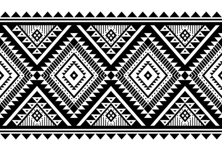 Adorno de vector de estilo azteca. Patrón sin costuras. Fondo geométrico tribal. Se puede utilizar para el diseño de ropa de cama, accesorios para decoración de interiores en estilo boho, telas de tribus de moda, alfombras, estampados de estuches, etc.