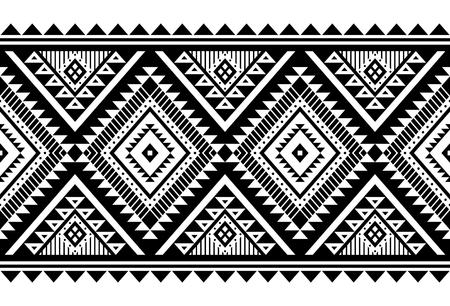 Ornament wektor w stylu azteckim. Wzór. Plemienne tło geometryczne. Może być stosowany do projektowania pościeli, akcesoriów do wystroju wnętrz w stylu boho, modnych tkanin plemiennych, dywanów, nadruków na etui itp.